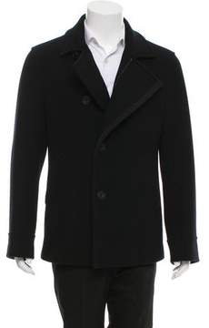 Salvatore Ferragamo Grosgrain-Trimmed Wool Jacket