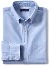 Lands' End Men's Tailored Fit Buttondown Solid Sail Rigger Oxford Shirt-White