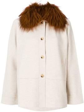 Cividini fur cape coat