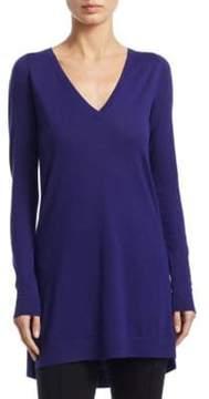 Akris Punto Long-Sleeve Wool Tunic