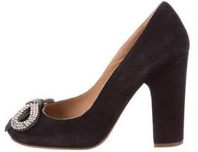 See by Chloe Crystal Bow Pumps