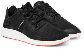 Y-3 Yohji Run Boost Suede-Trimmed Mesh Sneakers