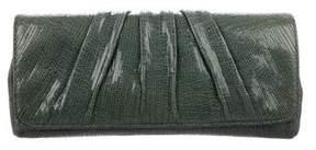 Lauren Merkin Caroline Pleated Leather Clutch