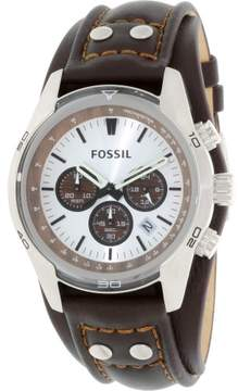 Fossil Men's CH2565 Coachman leather-pig-skin Watch, 45mm