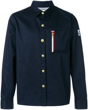 Moncler Gamme Bleu zipped chest shirt