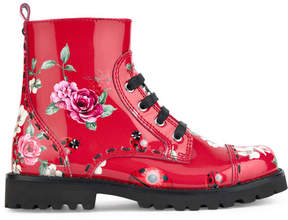 Dolce & Gabbana Printed leather boots