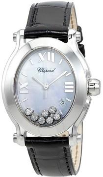 Chopard Happy Sport Floating Diamonds Stainless Steel Ladies Watch
