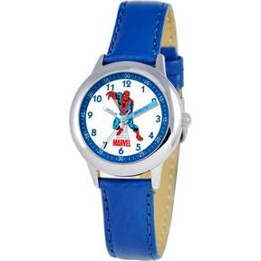 Spiderman Marvel Boys' Stainless Steel Watch, Blue Strap