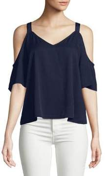 Calvin Klein Jeans Modern Cold-Shoulder Top