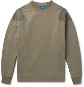 Beams Ripstop-Panelled Loopback Cotton-Jersey Sweatshirt