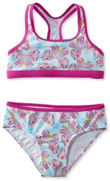 L.L. Bean L.L.Bean Girls' BeanSport Racer-Back Bikini, Print