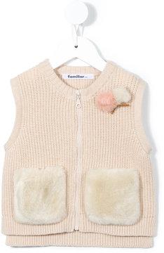 Familiar knit gilet