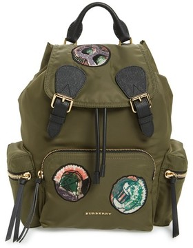 Burberry Medium Patches Rucksack Nylon Backpack - Green - GREEN - STYLE