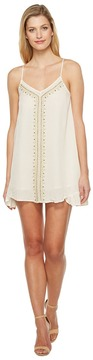 Brigitte Bailey Briar Spaghetti Strap Dress with Bead Detail Women's Dress