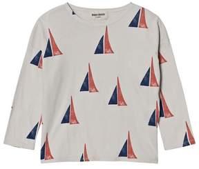 Bobo Choses Cream Sailing Boat Alma T-Shirt