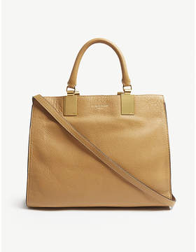 Kurt Geiger London Camel Brown Emma Leather Tote Bag