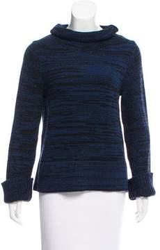 White + Warren Patterned Turtleneck Sweater