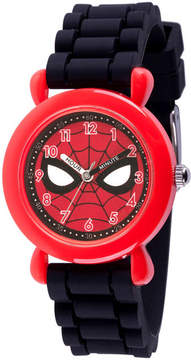 Marvel Spiderman Boys Black Strap Watch-Wma000238