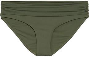 Melissa Odabash Bel Air Ruched Bikini Briefs - Army green