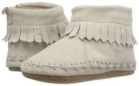 Robeez Cozy Ankle Moccasin Soft Sole Boy's Shoes