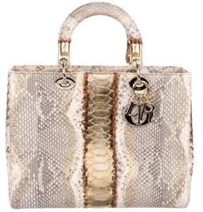 Christian Dior Large Python Lady Bag