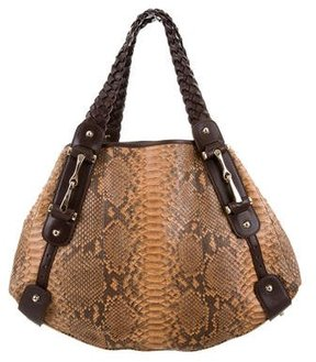 Gucci Python Pelham Bag - BROWN - STYLE