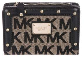MICHAEL Michael Kors Leather-Trimmed Monogram Wallet