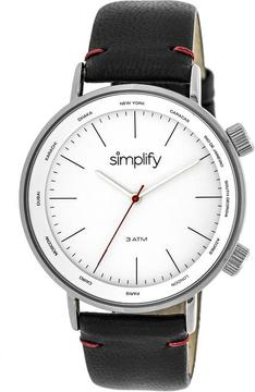 Simplify The 3300 Collection SIM3301 Silver Analog Watch