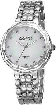 August Steiner Womens Silver Tone Strap Watch-As-8248ss