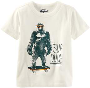 Osh Kosh Oshkosh Bgosh Boys 4-8 Sup Dude Gorilla Graphic Tee