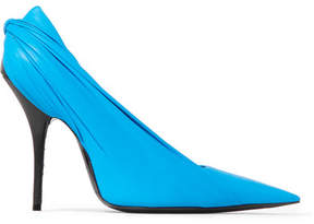 Balenciaga Knife Leather Pumps - Light blue