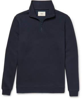 Folk Elbow-Patch Piqué Half-Zip Sweatshirt