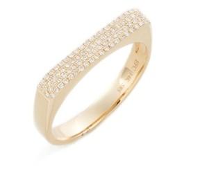 Ef Collection Women's Jumbo Diamond Bar Ring