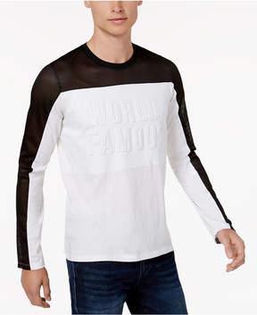 GUESS Men's World Famous Mesh Long-Sleeve T-Shirt
