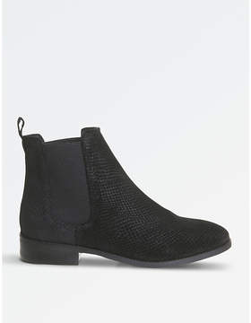 Office Bramble embossed suede ankle boots