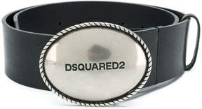 DSQUARED2 wide logo buckle belt