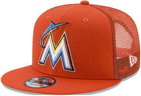 New Era Miami Marlins On Field Mesh 9FIFTY Snapback Cap