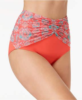CoCo Reef Printed High-Waist Bikini Bottoms Women's Swimsuit