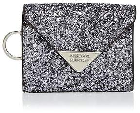 Rebecca Minkoff Molly Metro Glitter Leather Card Case - PEWTER GLITTER/SILVER - STYLE