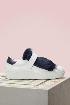 Moncler Victoire fur sneakers