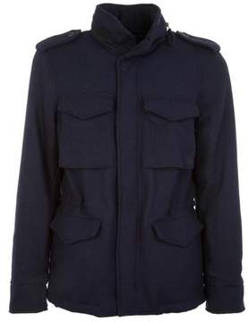 Aspesi Men's Blue Wool Outerwear Jacket.