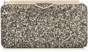 Jimmy Choo ELLIPSE Gold Mix Clutch Bag in Star Coarse Glitter Fabric