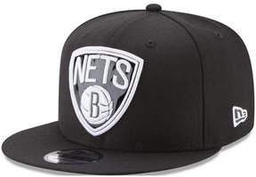 New Era Brooklyn Nets Patent Blackout 9FIFTY Snapback Cap