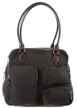 MZ Wallace Patent Leather-Trimmed Shoulder Bag