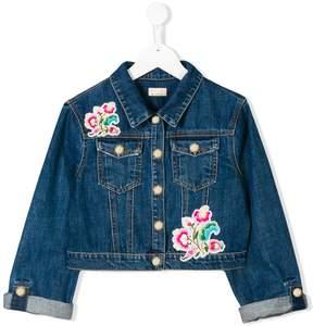 Elisabetta Franchi La Mia Bambina TEEN embroidered denim jacket