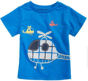First Impressions Helicopter-Print Cotton T-Shirt, Baby Boys (0-24 months), Created for Macy's