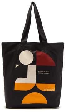 Isabel Marant Woom Logo Print Tote - Womens - Black Multi