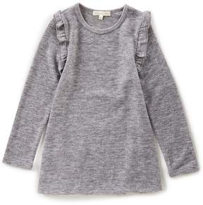 Copper Key Little Girls 2T-6X Ruffle-Sleeve Top