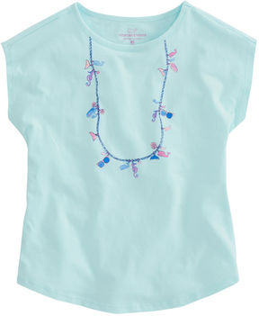 Vineyard Vines Girls Beach Icon Necklace Swing Tee