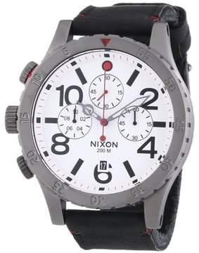 Nixon 48-20 Chrono Leather Mens Watch A363486
